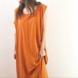 Vintage floor length orange dress